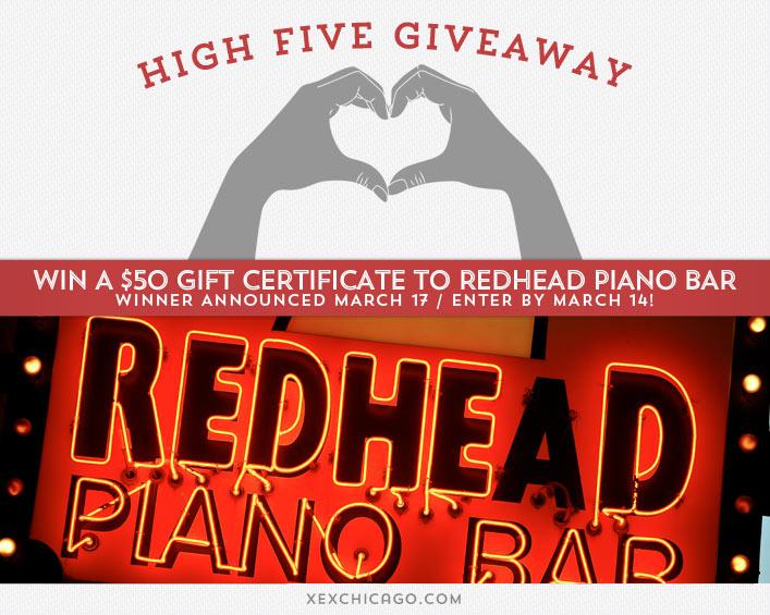 Redhead Piano Bar Giveaway