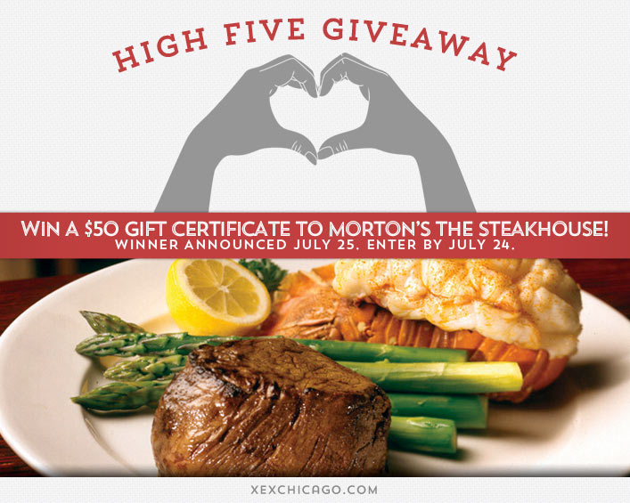 Mortons the Steakhouse Giveaway