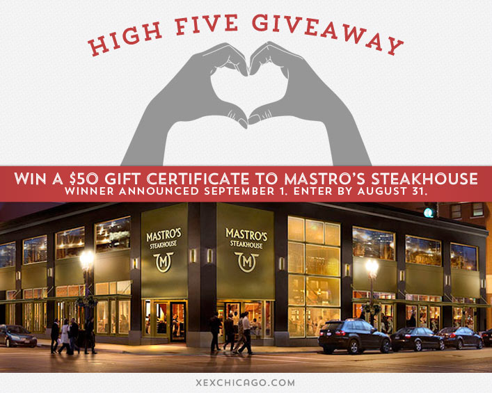 Mastros Steakhouse giveaway