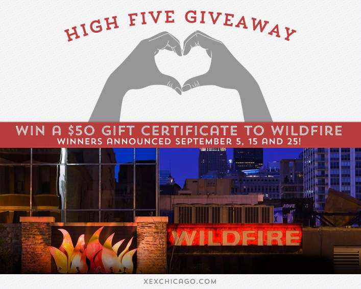Wildfire Restaurant Giveaway