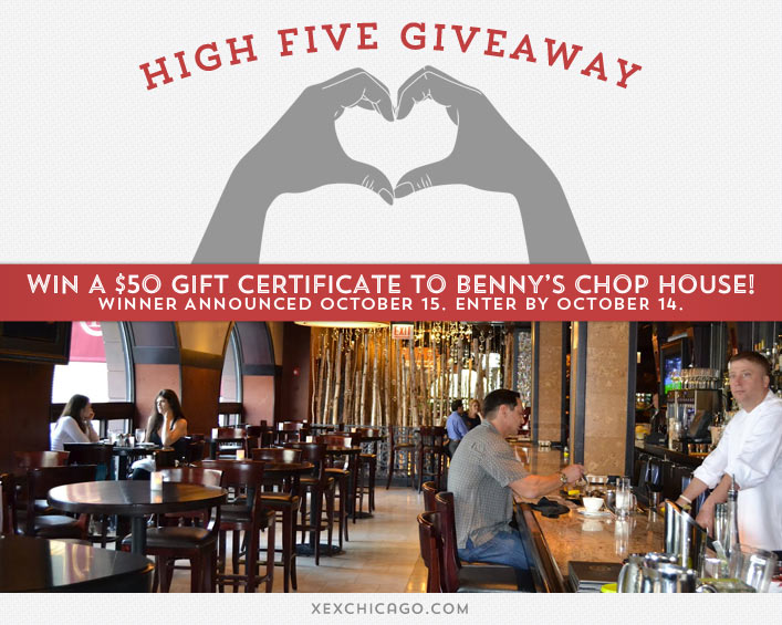 Benny's Chop House Giveaway